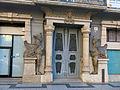 687 Antiga clínica Sabaté, pl. Alfons XII 7 (Tortosa), portal egipci.JPG