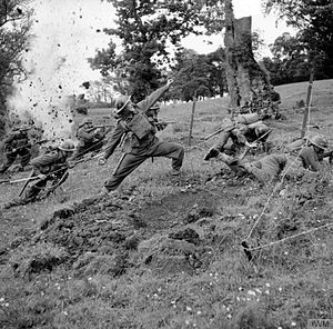 61st Infantry Division (United Kingdom) - Men of the 6th Battalion, Royal Berkshire Regiment undertaking battle training at Coleraine, Northern Ireland, 16 June 1941.
