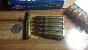 7.65×53mm Mauser - Image: 7.65 Argentine Ammunition