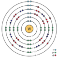 74 tungsten (W) enhanced Bohr model.png