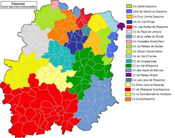 Carte des intercommunalit s de l essonne en 2013 - Communaute d agglomeration des portes de l essonne ...