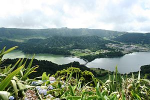 Azores Geopark - The crater of the Sete Cidades Massif and iconic lagoons: one of the many natural and geomorphological sites that are part of the Geoparks program