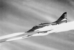Zuni (rocket) - An VA-113 A-4F launching Zunis during the Battle of Khe Sanh, 1968.