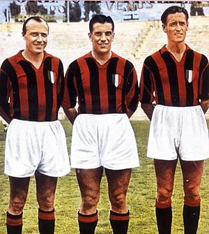 Gunnar Gren - Gre-No-Li playing for A.C. Milan, 1950