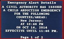 AMBER Alert - Wikipedia
