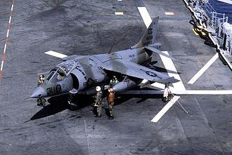 Joseph T. Anderson - AV-8A Harrier from VMA-231 on the USS Nassau (LHA-4) in 1982
