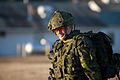 A Canadian soldier with 2nd Battalion, Royal Newfoundland Regiment, 37th Canadian Brigade Group, prepares for the start of Exercise Southern Raider 13 at Fort Pickett, Va., March 4, 2013 130304-A-KH856-014.jpg