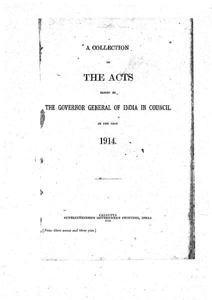 File:A Collection of the Acts passed by the Governor General of India in Council, 1914.djvu