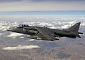 A Harrier GR7A in flight over the mountain ranges of Afghanistan during a mission. MOD 45147942.jpg