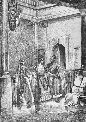 Moroccan Jews - Etching of Jewish home in Mogador, Darondeau (1807–1841)