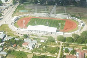 Amaan Stadium - A bird's view of Amaan Stadium in Zanzibar.