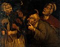 A blacksmith extracting a tooth. Oil painting in the style o Wellcome V0017164.jpg