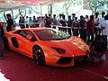 A lamborghini aventador at the autoshoow at anna university, chennai.1.JPG