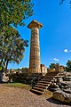 A restored column of the Temple of Zeus in Olympia on October 14, 2020.jpg
