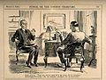 A terrified patient misunderstanding his doctor. Reproductio Wellcome V0011517.jpg