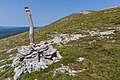 A tourist post close to Ćunina glava, Risnjak National Park, Croatia.jpg