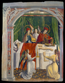 A verger's dream- Saints Cosmas and Damian performing a miraculous cure by transplantation of a leg. Oil painting attributed to the Master of Los Balbases, ca. 1495. WDL3251.png