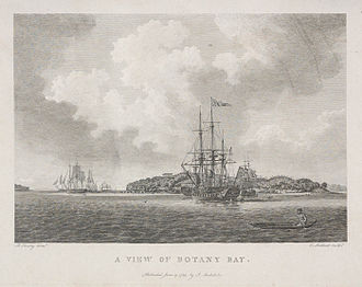Bare Island (New South Wales) - Image: A view of Botany Bay A1475003h