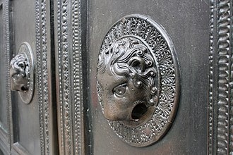 Aachen Cathedral - Lion head doorknocker of the Carolingian Wolf's Door