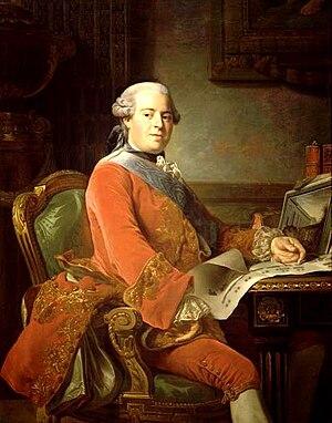 Abel François Poisson - The marquis de Marigny. Portrait by Alexander Roslin, 1764. Château de Versailles.