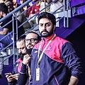 Abhishek Bachchan, Juspreet Singh Walia, Bunty Walia at Jaipur Pink Panthers match, 2017.jpg