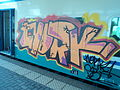 Abstract graffiti on rolling stock in Rome 07.JPG