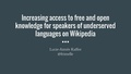 Access for speakers of underserved languages on Wikipedia.pdf