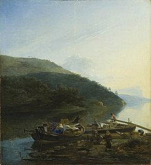 Riverscape with Laden Boats