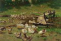 Adolf Lins - A summer day, geese by a pond.jpg