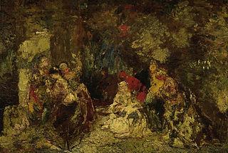 Vrouwen in een bos
