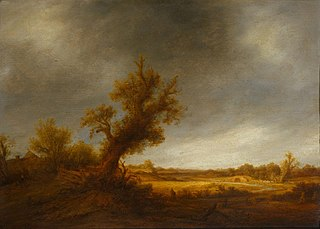 Landscape with an old oak