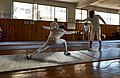 Advanced lunge performed by an Epee fencer at Athenaikos Fencing Club.jpg