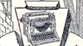 Advt - typewriter - The Man in Lower Ten.png