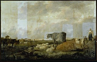 Landscape with Milkmaid and Cattle
