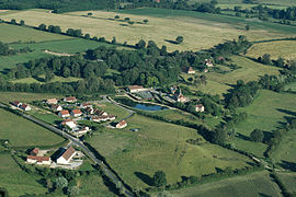 An aerial view of Aubigny