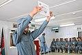Afghan Uniform Police NCO displays his certificate of completion at Kandahar Regional Training Center.jpg