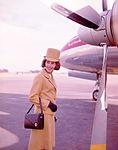 Air Hostess Uniform 1965 Gold 002 (9626673684).jpg