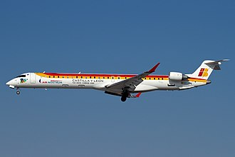 Air Nostrum - An Air Nostrum Bombardier CRJ1000 at Bologna Airport.