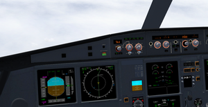 Cockpit View of A320neo in FlightGear 3.7