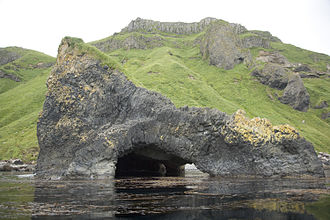 Sea cave - Akun Island basalt sea cave