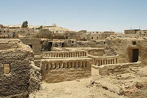 Dakhla Oasis - Al-Qasr town at Dakhla Oasis