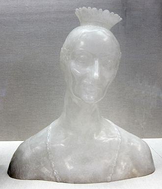 Henry Clews Jr. - Alabaster bust of Marie Elsie Whelen Clews by Henry Clews, Jr., 1917.