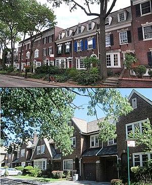 Albemarle–Kenmore Terraces Historic District - top: Albemarle Terrace, south side (September 2012) bottom: Kenmore Terrace, south side (August 2013)