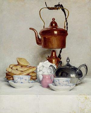 Albert Anker - Albert Anker, Still life Tea service