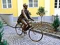 Albert Einstein szobor, Szeged, Somogyi utca, Bánvölgyi0KJ.jpg
