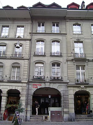 Annus Mirabilis papers - The Einsteinhaus on the Kramgasse in Bern, Einstein's residence at the time. Most of the papers were written in his apartment on the first floor above the street level.