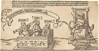 Justice, Truth and Reason in the Stocks with the Seated Judge and Sleeping Piety
