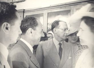 Luigi Bernabò Brea - With Alcide De Gasperi in 1948 at the inauguration of the Archaeological Museum of Syracuse.