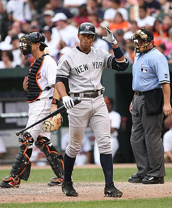 English: A-Rod in 2007. Español: A-Rod en 2007.