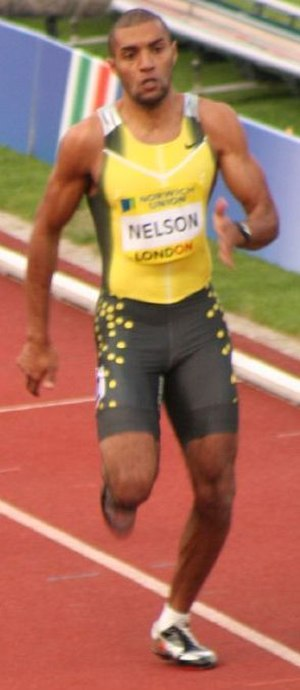 Alexander Nelson - Alexander Nelson at the 200 metres race at the London Grand Prix 2007.